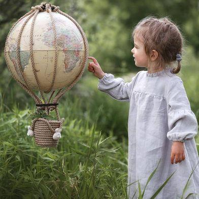 Интерьерный воздушный шар-глобус